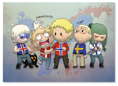 I personaggi del web comics Scandinavia and the World