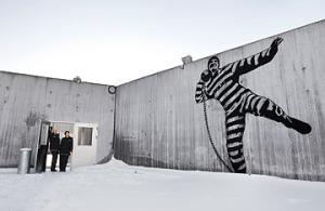 Cortile del carcere di Halden.